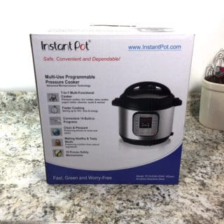 Instant Pot Setup- Instant Pot in Box