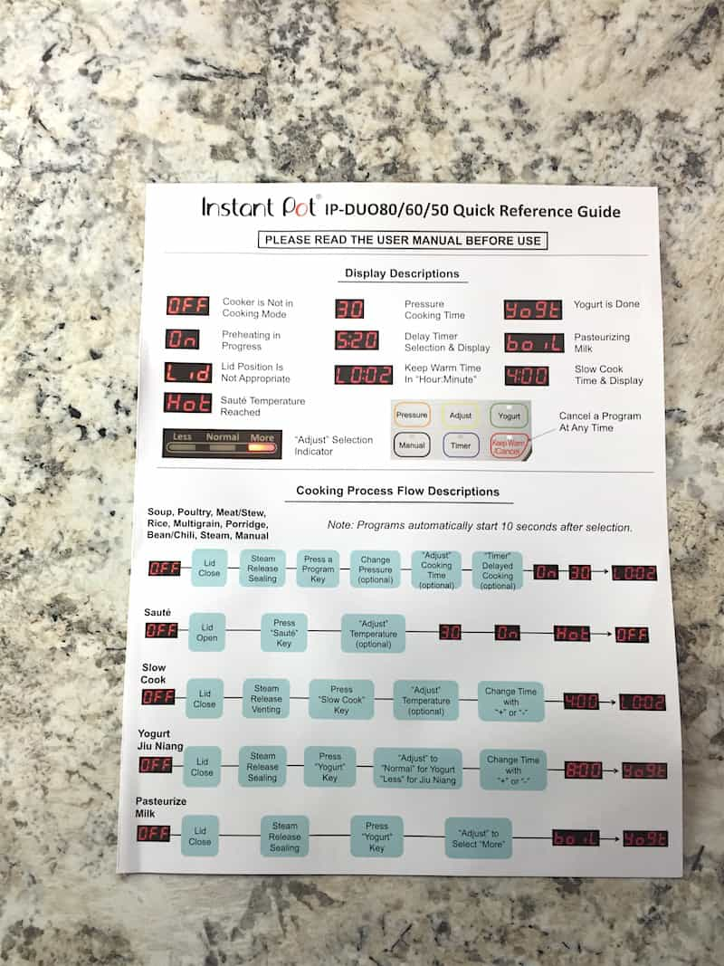 Instant Pot Setup 101 Cook Fast Eat Well Capacitor Wiring Diagram Further Washing Machine How To