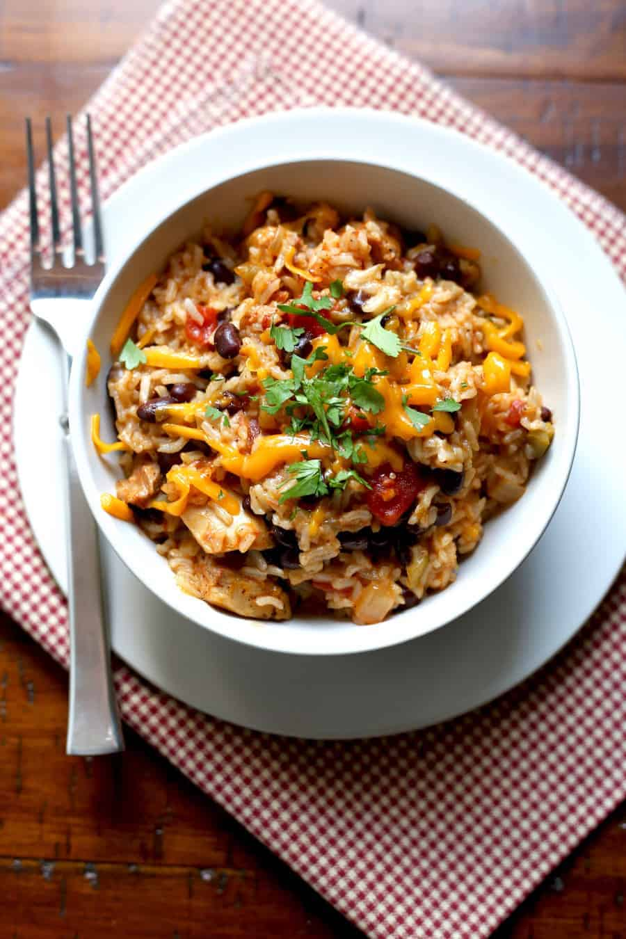 Pressure Cooker Chicken Black Bean And Rice Burrito Bowls