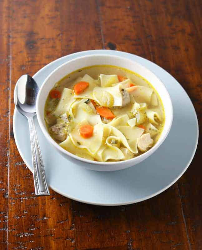 Pressure Cooker Chicken Soup Recipe. Takes 10 minutes to make in you Instant Pot and tastes like it simmered all day!