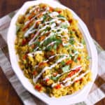 Pressure Cooker Curry Chicken   Easy Recipe   Street Cart Style Chicken with Rice