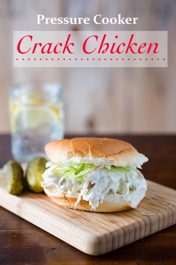Pressure Cooker Crack Chicken. Instant Pot Recipe. Makes a Great Casserole or Sandwiches.