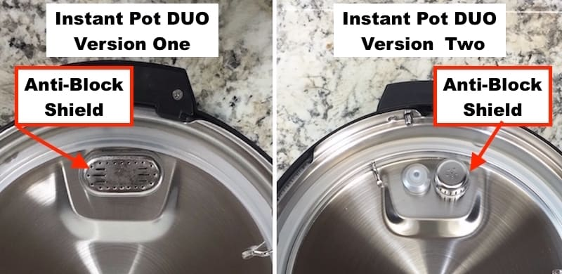 Instant pot duo side by side anti block shields. Version one on left. Version two on right.