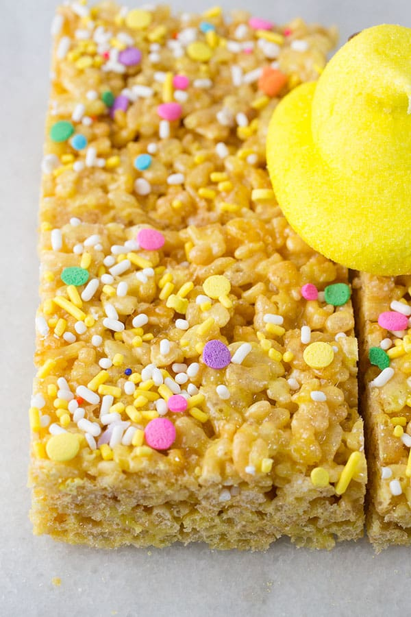 Peeps Rice Krispie Treats Are a Fun and Easy Easter Dessert
