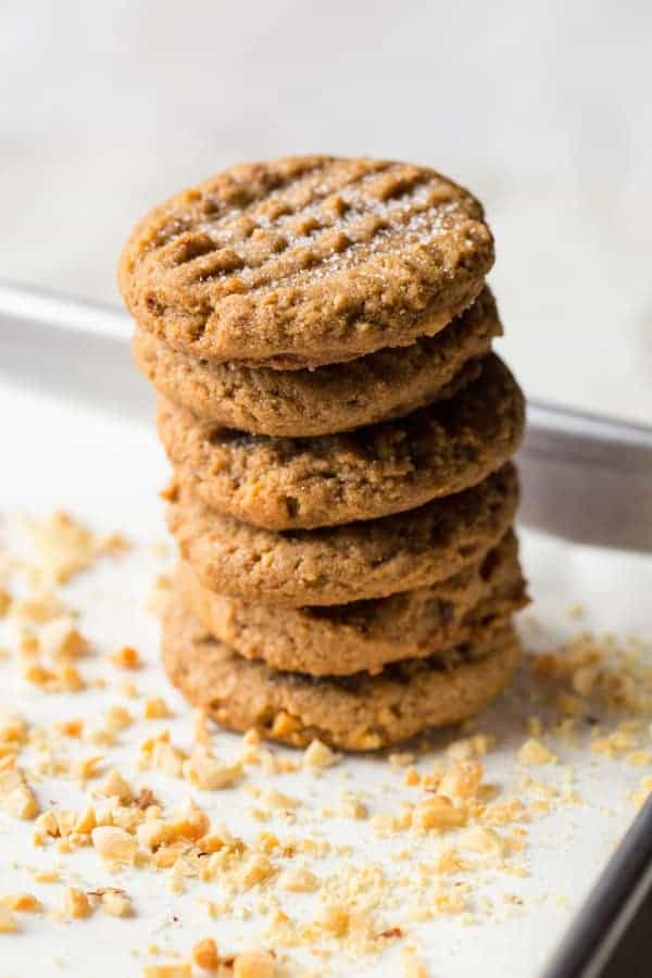 3 Ingredient Peanut Butter Cookies | Easy | Made with Brown Sugar