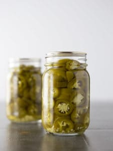 How to Make Pickled Jalapeños | Photo of Homemade Canned Pickled Jalapeños