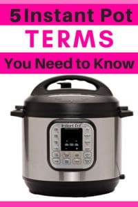 Text on Image: 5 Instant Pot Terms You Need to Know.