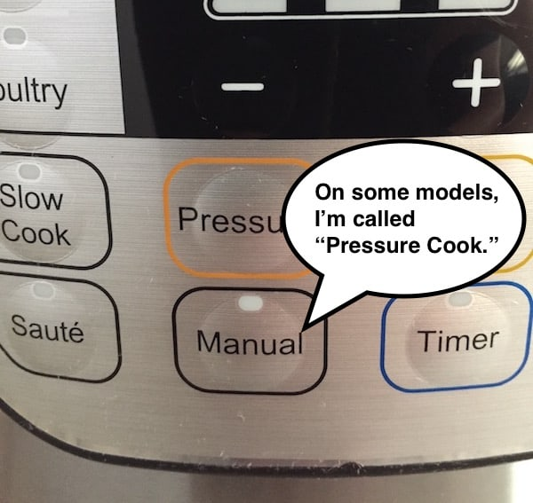 Manual Pressure Cook Button on Instant Pot