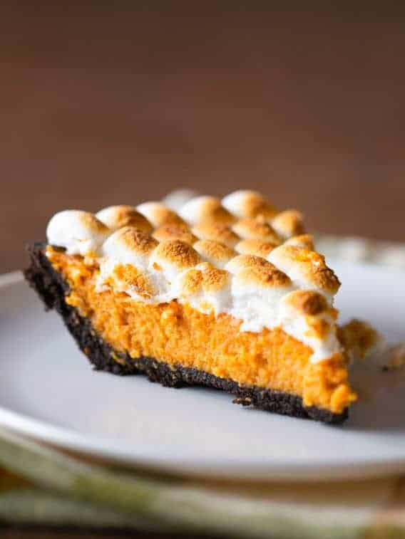 Pumpkin Smores Pie. Easy Recipe for Thanksgiving