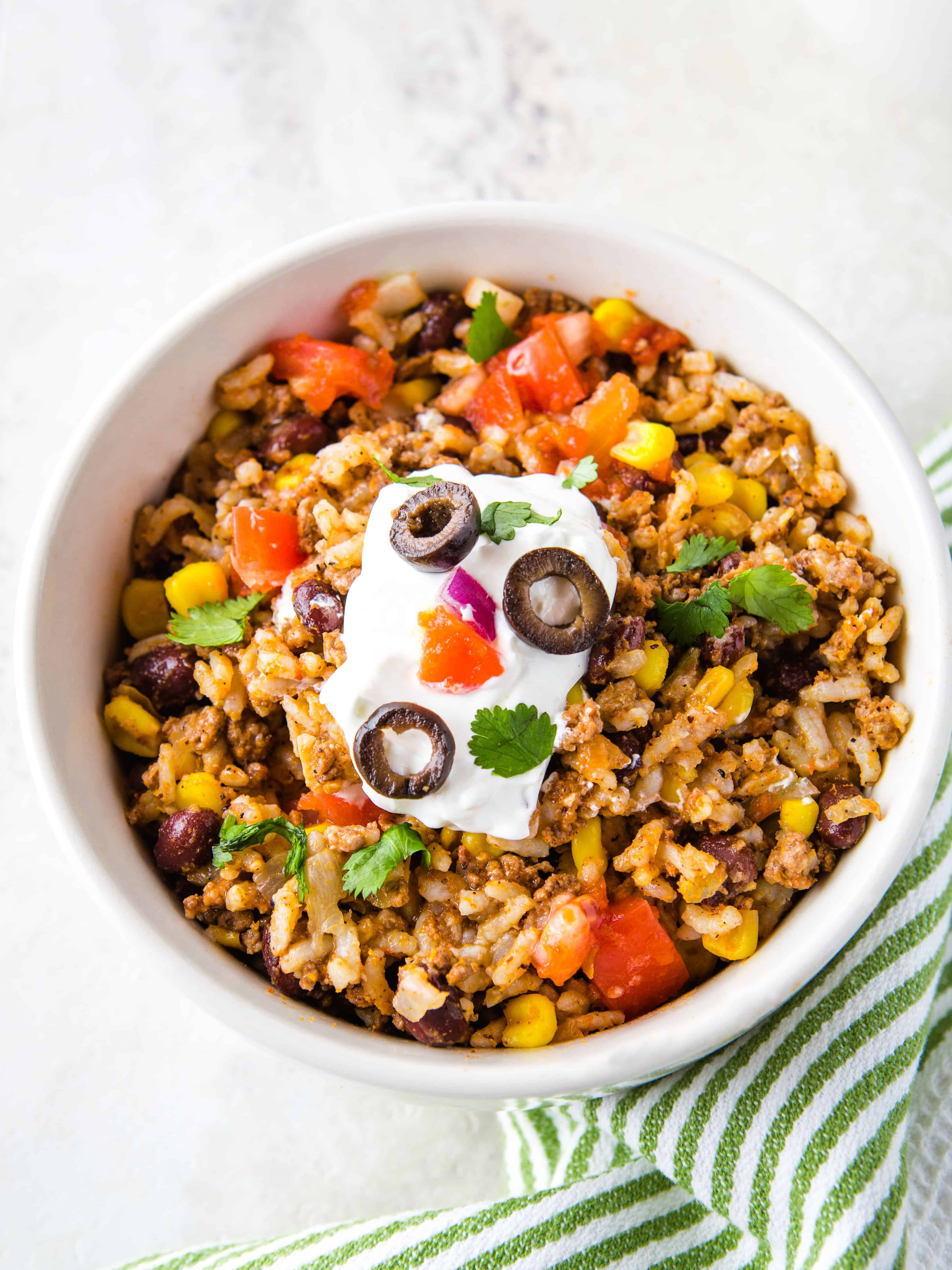 Instant Pot Beef Black Bean And Rice Taco Bowls Cook Fast Eat Well