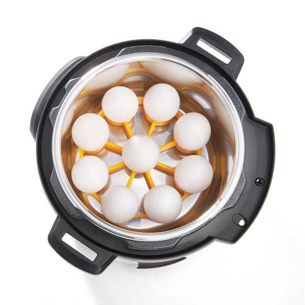 OXO Egg Rack in Instant Pot with Eggs On It