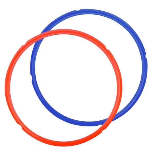 Photo of Red and Blue Instant Pot Sealing Ring