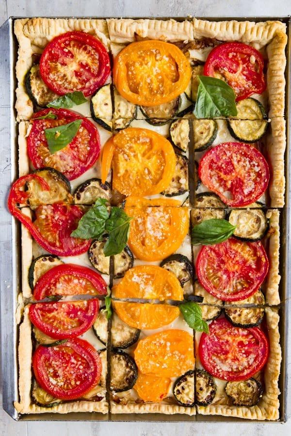 Tomato Slab Pie Baked.