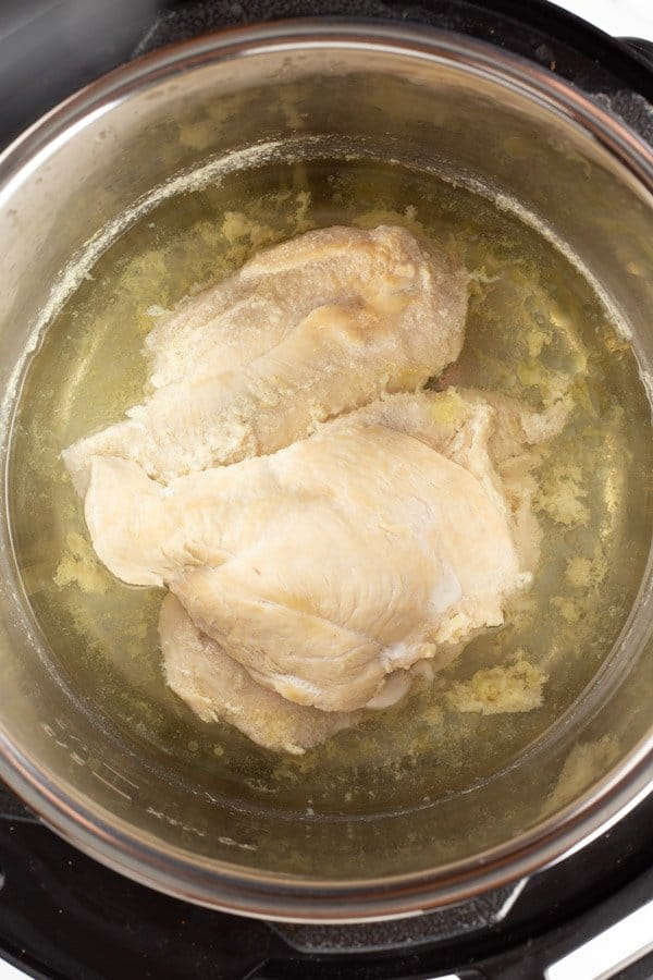 Cooked chicken breast in Instant Pot